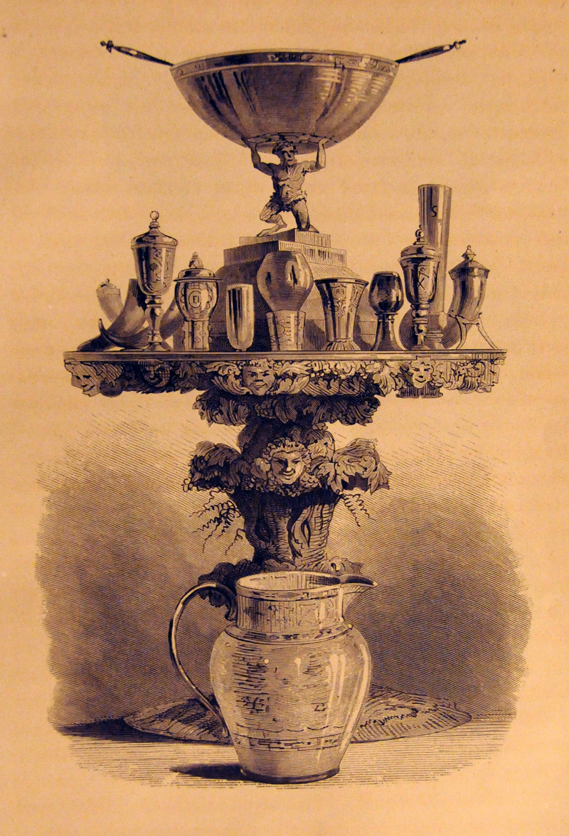Par Bricoles klenoder. Illustration ur tryckt skrift från 1873.